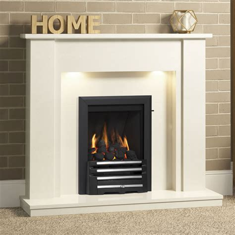 be modern elda 48 quot marble fireplace suite fireplaces are us