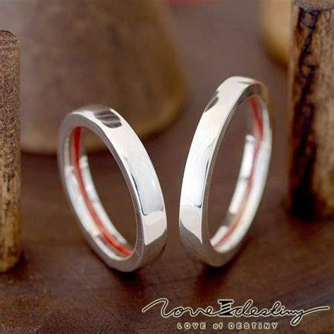 red thread destiny rings twin flame love red string of