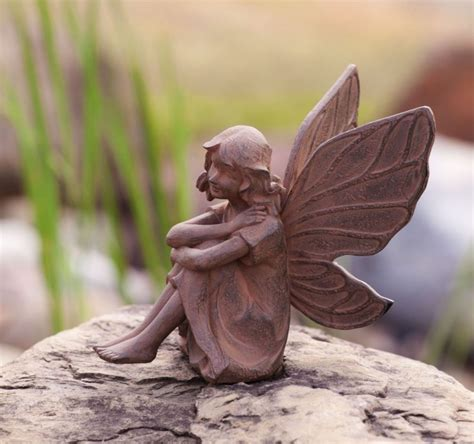 fairy garden statues no gnomes or buddhas garden art for atheist adults