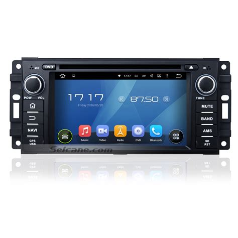 jeep grand radio 2005 2011 jeep grand aftermarket android 5 1 1 hd