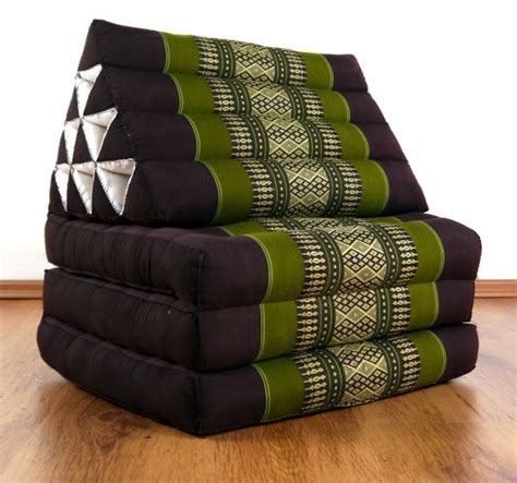 Thai Mat by Foldable Thai Mat 3 Fold Triangle Asia Cushion Headrest 100 Kapok Filling Ebay