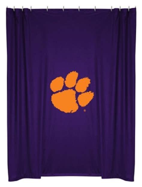clemson curtains clemson tigers shower curtain