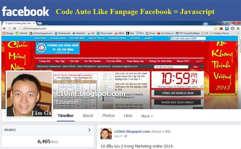 Auto Like For Page by Auto Javacript Tự động Cho Fanpage Facebook Auto Like Page