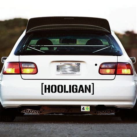 hoonigan stickers on cars hooligan decal sticker window banner hoonigan ken block racing