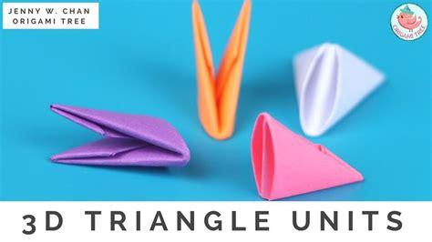 Origami 3d Triangle - po芻et nejlep蝪 237 ch obr 225 zk蟇 na t 233 ma origami na pinterestu