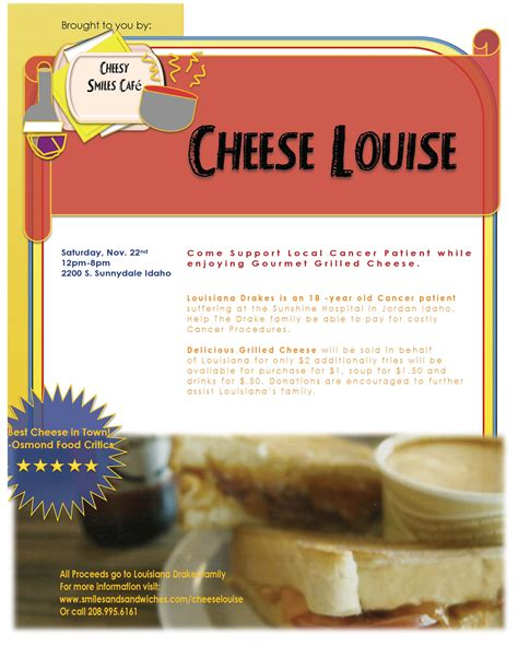 cheese louise event flyer designers voyage