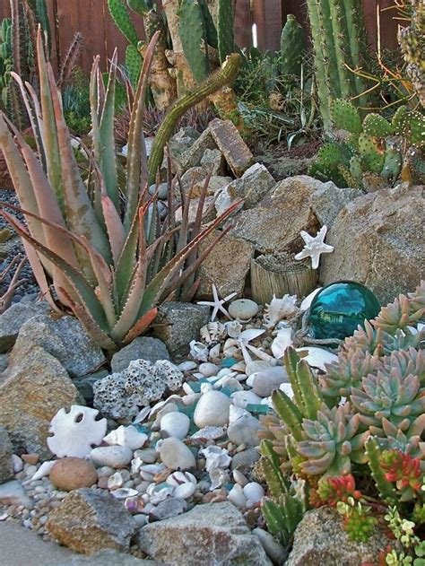 Seaside Garden Ideas Seashells In The Garden I Do This Did As Well My Grandchildren Like The Idea