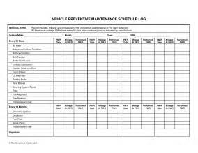Vehicle Maintenance Planner Template Vehicle Preventive Maintenance Schedule Log Automotive
