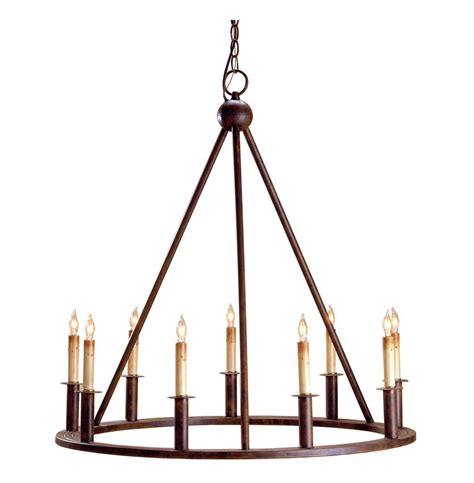 Lighting And Chandeliers Fiona Wrought Iron Circular 9 Light Chandelier Kathy Kuo Home