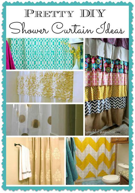 diy bathroom curtain ideas diy shower curtain projects