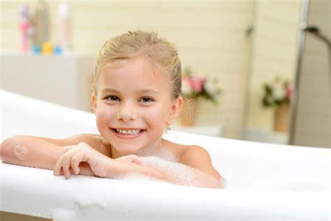 cute girls in bathroom pretty little girl taking bath stock image image of