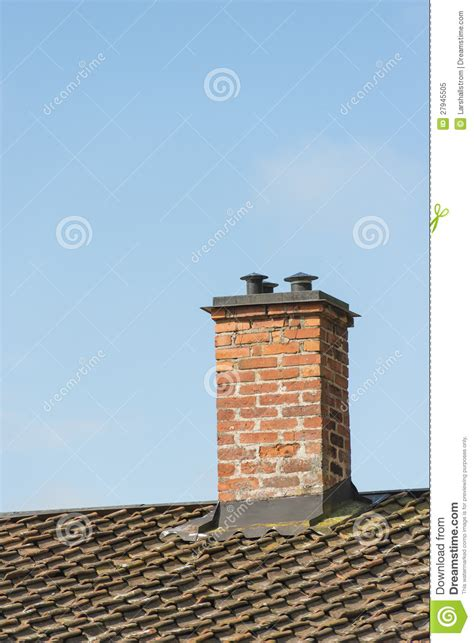 Fireplace Plans Outdoor - red brick chimney on roof of old house stock image image 27945505