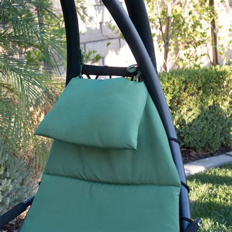 Patio Swing Lounge Hanging Chaise Lounge Chair Hammock Swing Canopy Glider