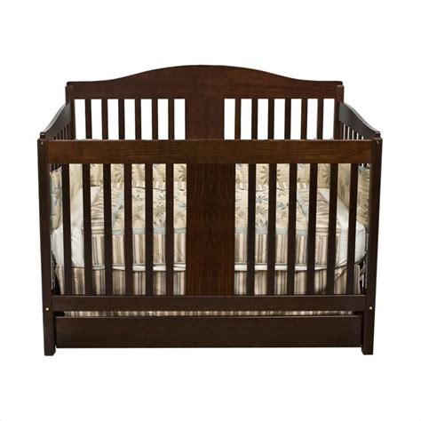 Wood Convertible Cribs Da Vinci Richmond Pine 4 In 1 Convertible Wood W Toddler Rail Espresso Crib Ebay