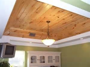 should ceilings be white knotty pine wood in my tray ceiling