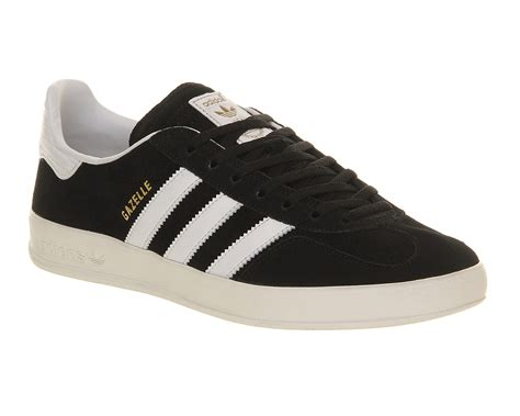 adidas gazelle black adidas gazelle indoor black white trainers shoes ebay