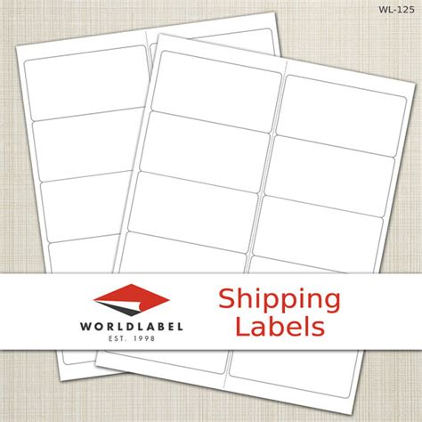 avery templates 8163 items similar to 4 x 2 quot white matte labels 100 sheets