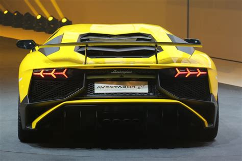 lamborghini back yellow lamborghini aventador lp 750 4 superveloce back