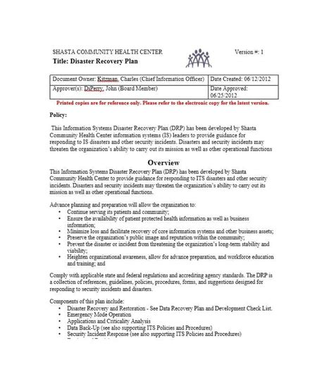 disaster recovery communication plan template 52 effective disaster recovery plan templates drp