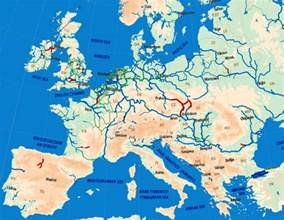 Rivers Of Europe Map by European Waterways Barge Carrier Inland Waterways Transport