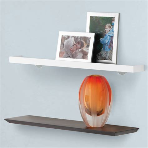 White Shelf With Lip by White Tchotchke Shelves The Container Store