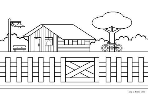 desenhar casas arte no paint desenho para colorir casa bicicleta