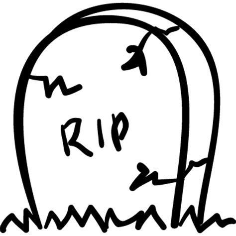 rip template tombstone with cracks and rip letters free vectors