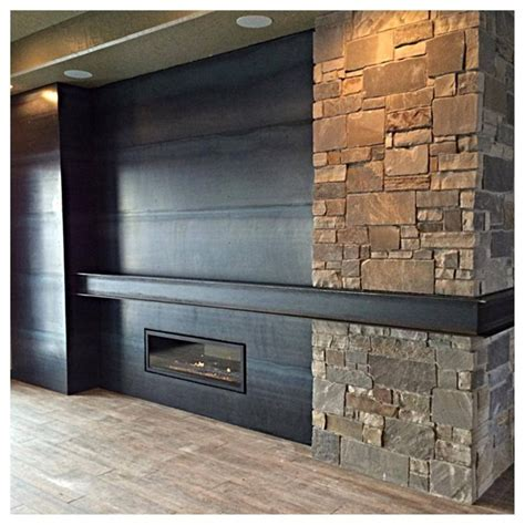 Metal Fireplace Mantel by 17 Best Images About Custom Fireplaces On