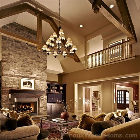 Treat Your Living Room To A Makeover Faux Wood Workshop Living Room Ceiling Beams