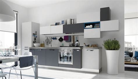 Accent Color For White And Gray Kitchen by Awesome White And Grey Kitchen With Blue Accents