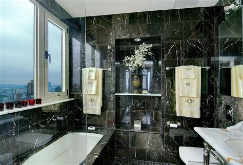 Master Bathroom with Master bathroom by The Corcoran Group