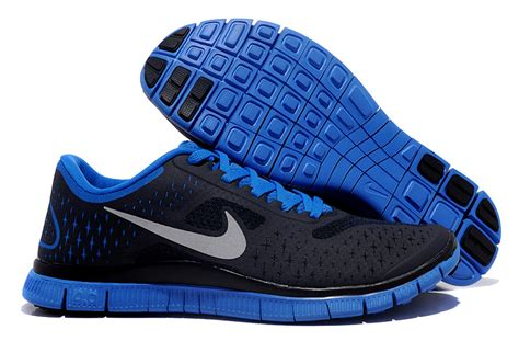 factory nike free 4 0 v2 black blue running shoes sell here