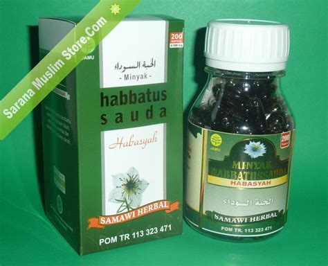 Habbatussauda Minyak 200 Kapsul Obat Herbal Kapsul Habbatussauda kapsul minyak habbatussauda habasyah samawi herbal sarana muslim store