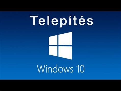Windows 10 Tutorial Hun | windows 7 telep 237 t 233 se pendr 225 jvrol usb rol hun 720p doovi