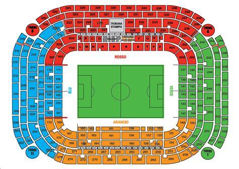 stadio san siro mappa posti a sedere stadio san siro milan club abano terme euganee
