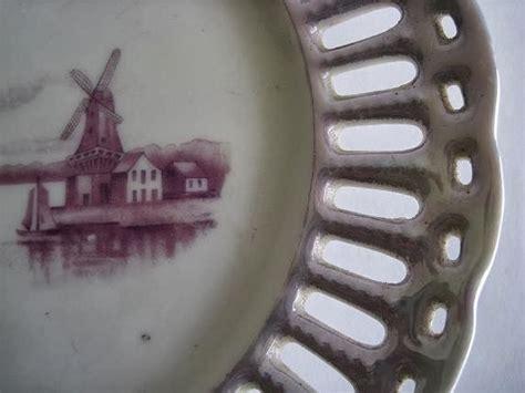 Piring Pajangan Kincir toko antiek retro vintage antique piring krawangan pajangan design sangat unik dengan motif