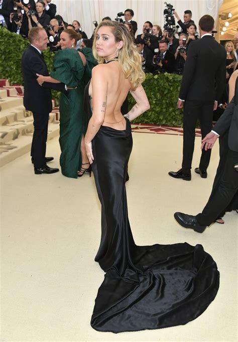 Dress Mily miley cyrus wearing black dress 2018 met gala popsugar