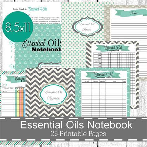 printable essential oil journal essential oils planner notebook printable pdf by