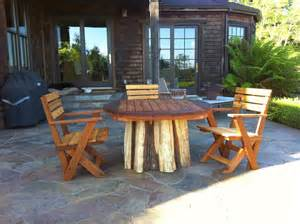Redwood Patio by Mathew Isaac S Woodworks Salvaged Redwood Patio Furniture