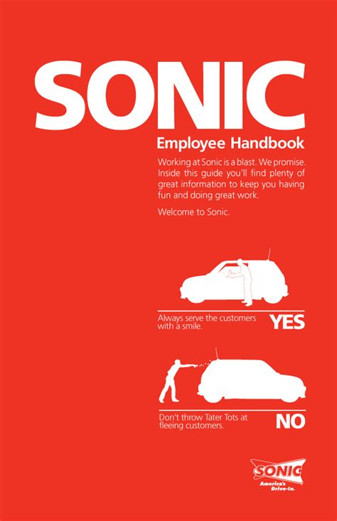 Sonic Employee Handbook Cover On Behance Employee Handbook Cover Design Template