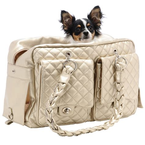 puppy purse alex luxe carrier bag by kwigy bo gold designer pet carriers at glamourmutt