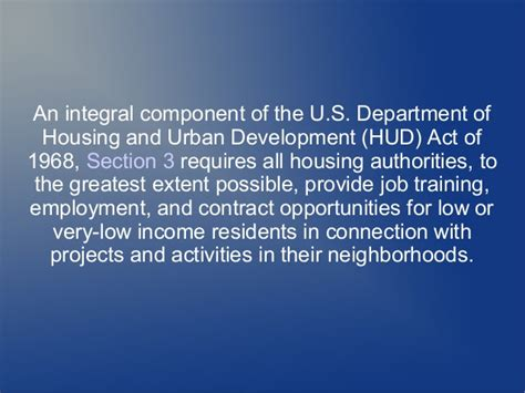 section 3 hud darrell irions section 3 rules foster opportunity for