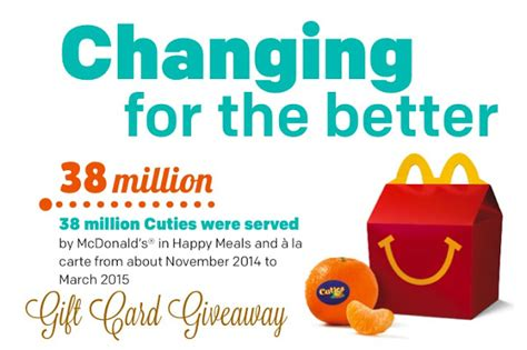 Mcdonalds Gift Card Discount - mcdonald s gift card giveaway happy meal with cuties fun things to do in la