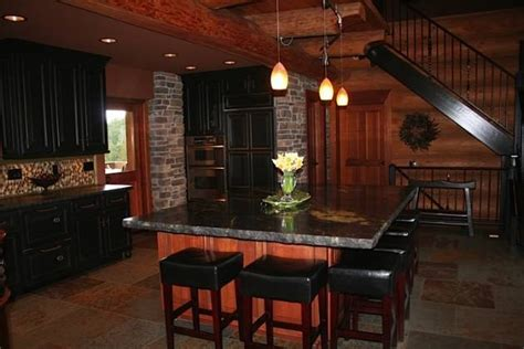 log cabin kitchen black cabinets black cabinets for the home