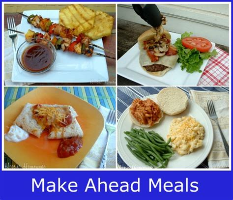 prepare ahead dinner cooking for house guests hoosier