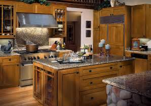 Kitchen Backsplash With Dark Cabinets craftsman style kitchen cabinets