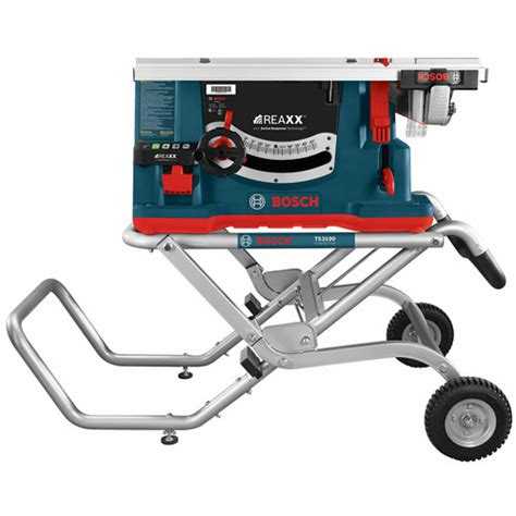 bosch jobsite table saw bosch gts1041a 09 10 in reaxx jobsite table saw with