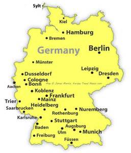 Germany Map With Cities by Map Of Germany Showing Cities Europe 2015 Hints Tips