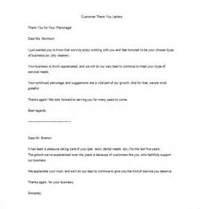 Neglected Customer Letter Thank You Letter For Your Service 9 Free Sle Exle Format Free Premium
