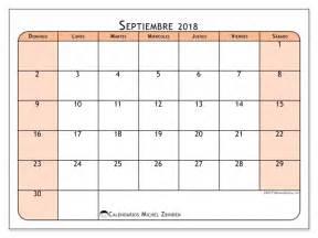 Calendario 2018 Septiembre Calendarios Para Imprimir Septiembre 2018 Fecha Mes